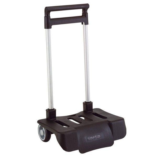 zzz chariot roulettes pliable noir pour cartable pas cher achat vente cartables sacs. Black Bedroom Furniture Sets. Home Design Ideas