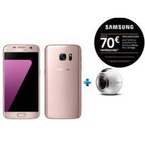 Samsung - Galaxy S7 Rose + Camera Gear 360 pour Réalité Virtuelle