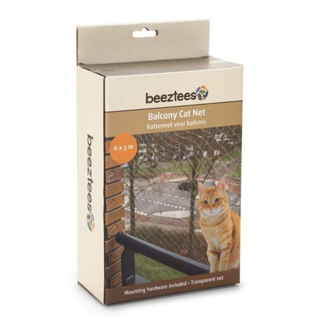 Beeztees Filet de balcon pour chats Transparent 6 x 3 m 410483