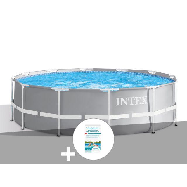 intex kit piscine tubulaire prism frame ronde 3 66 x 0. Black Bedroom Furniture Sets. Home Design Ideas