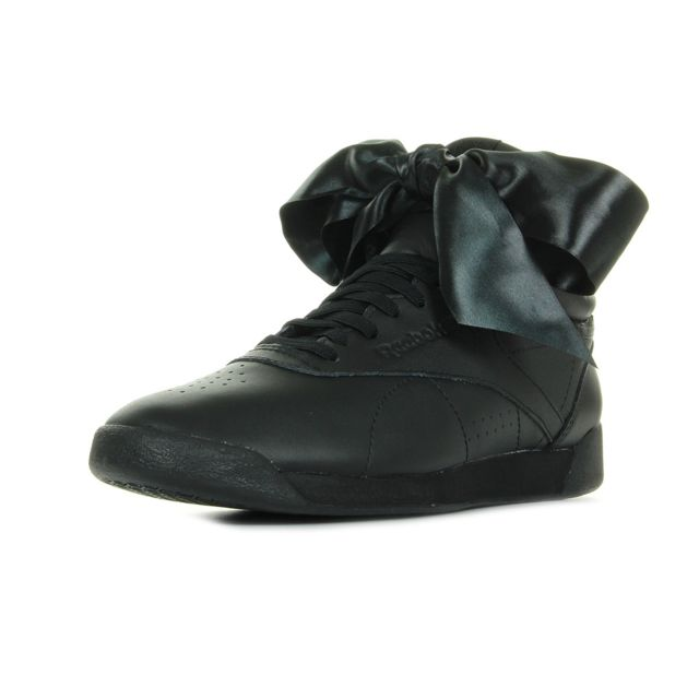 a99a75b450517 Reebok - F S Hi Satin Bow Noir - pas cher Achat   Vente Baskets femme -  RueDuCommerce