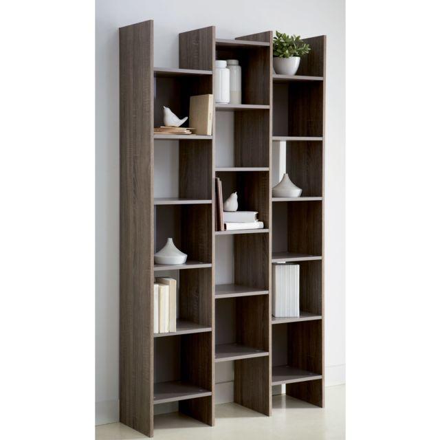 alin a optical biblioth que avec cases de rangement pas cher achat vente spots rueducommerce. Black Bedroom Furniture Sets. Home Design Ideas
