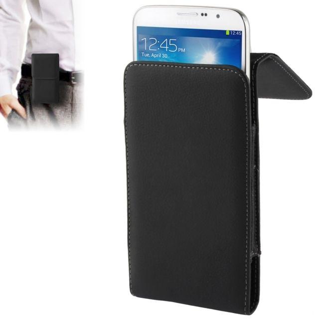 1b4a30607207 Wewoo - Housse Étui noir pour Samsung Galaxy Mega 6.3   i9200 Litchi  Texture Vertical Insertion