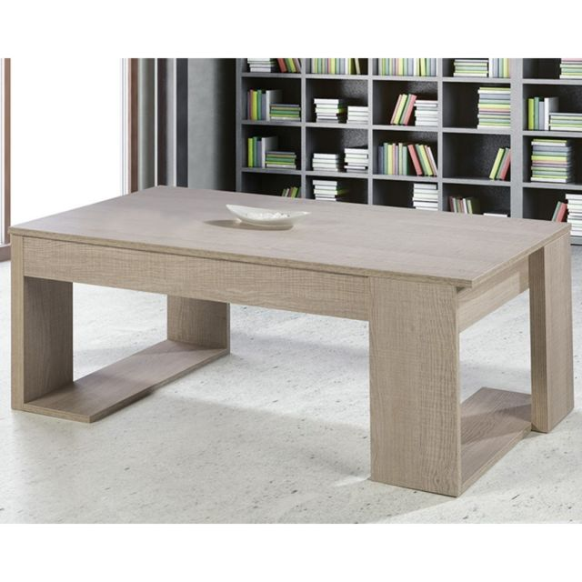 Table basse relevable Chêne clair - Guizmo