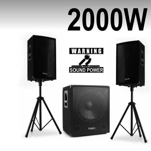 Ibiza Sound Pack cube 1512 - disco 12 - pieds - câbles