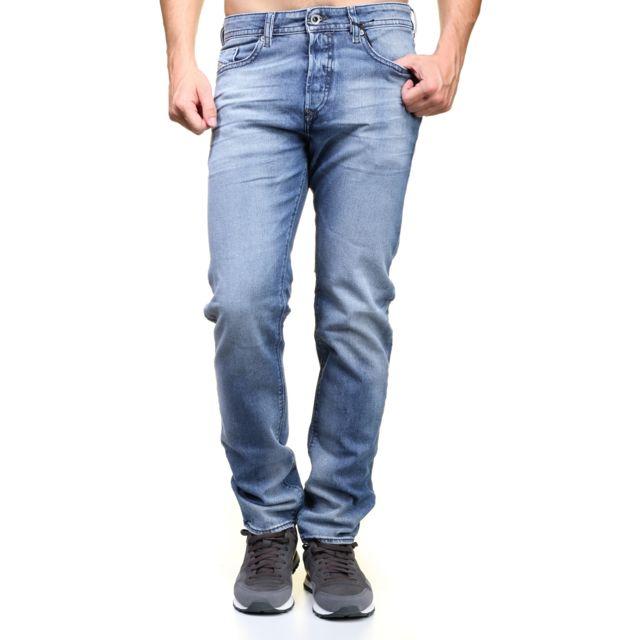 529145bdb1ac3 Diesel - Jeans Buster 0853p Bleu - pas cher Achat / Vente Jeans homme -  RueDuCommerce