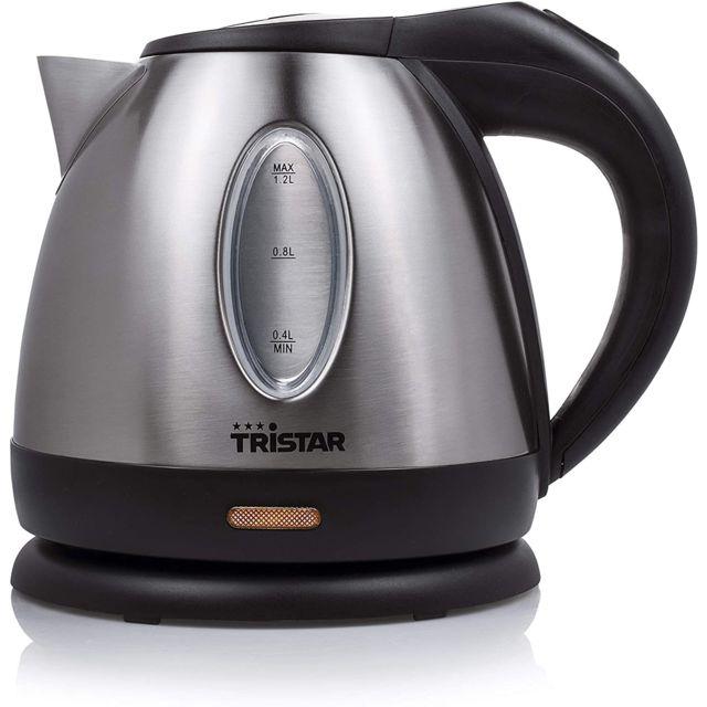Tristar bouilloire électrique de 1,2L sans fil 1500W gris noir
