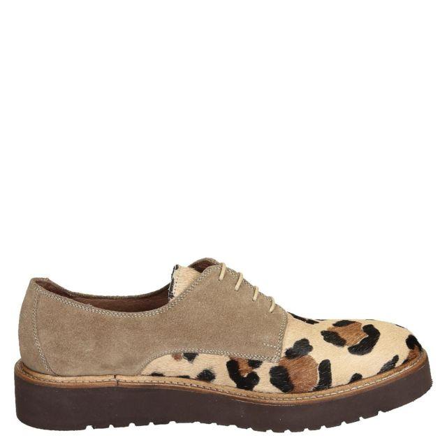 Leonardo Shoes Femme 84069PECAVALLINOMB Marron SuÈDE Chaussures À Lacets