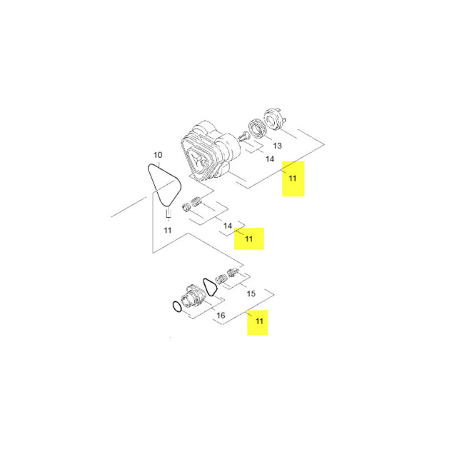 90016930 Pour Karcher Kit De Pieces De Rechange Repere 11 R/éf/érence