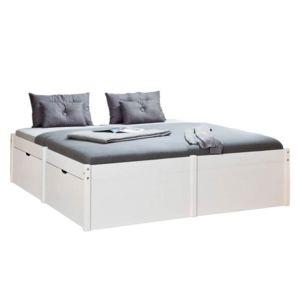 paris prix lit multi rangements uvila 180x200cm blanc pas cher achat vente structures de. Black Bedroom Furniture Sets. Home Design Ideas