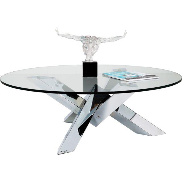 Karedesign Table basse ronde Crystal Eco Kare Design