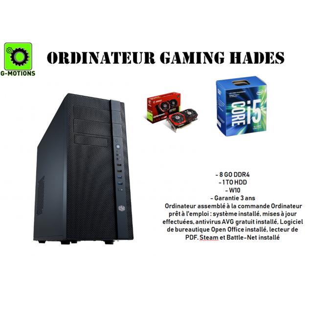Achat G Motions Ordinateur Tour De Bureau Assemblage Hades Gaming