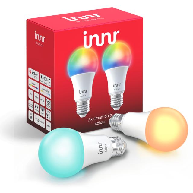 INNR - Ampoule connectée E27 - ZigBee 3.0 - RGB - Pack...
