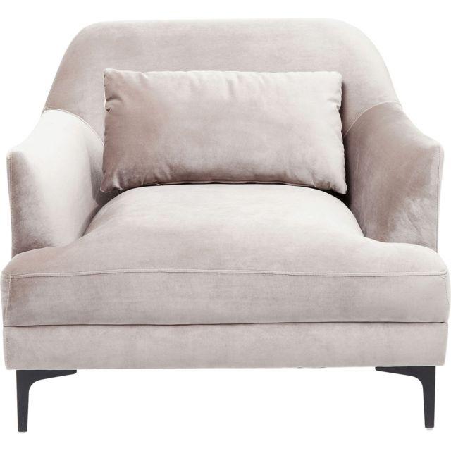 Karedesign Fauteuil Proud velours gris Kare Design