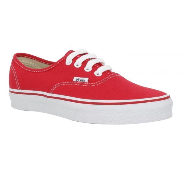 vans rouge femme