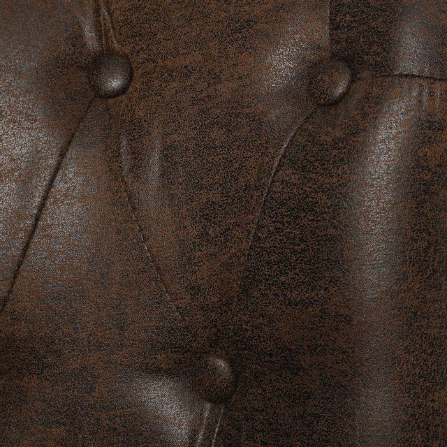 Fauteuil crapaud Calixte Petit modèle H. 63 cm Marron