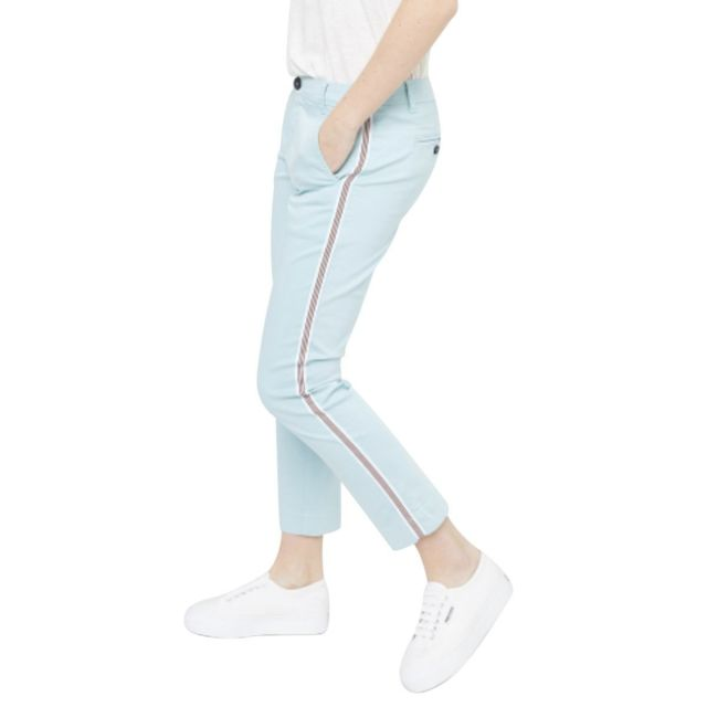 Mkt Pantalon chino bande côté The Princess Bleu ciel