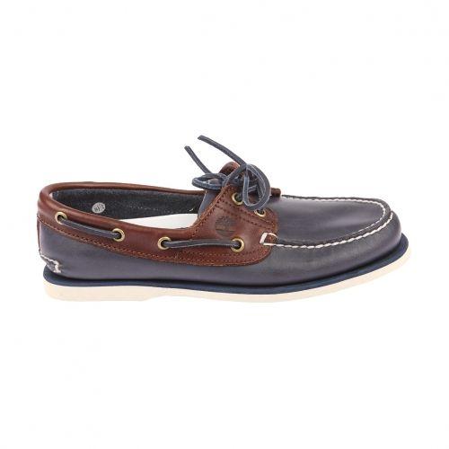 2 Marine Timberland Chaussures Cuir Et Eye Bateau Marron En Bleu qpn0S4n1