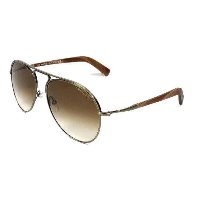 c7da45eea50818 Tom Ford - Cody Tf448 33F Copper - Lunettes de soleil - pas cher Achat    Vente Lunettes Aviateur - RueDuCommerce