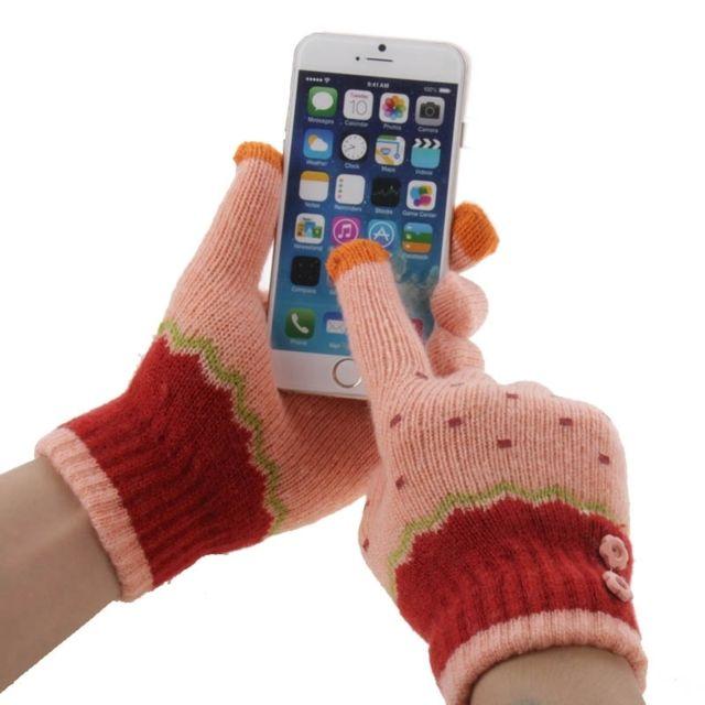 cbd02687790e Wewoo - Gants tactiles iPad rose pour iPhone, Galaxy, Huawei, Xiaomi ...