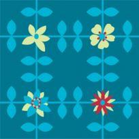 ouvre&deco . Dalle de sol Pvc auto-adhésive, Décoration intérieure - Dalle de sol auto-adhésive Décoration Blue Mary
