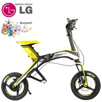 Moovway - Mini scooter électrique pliable batterie lithium forte autonomie port usb 30 km/h 48V Jaune connecté bluetooth