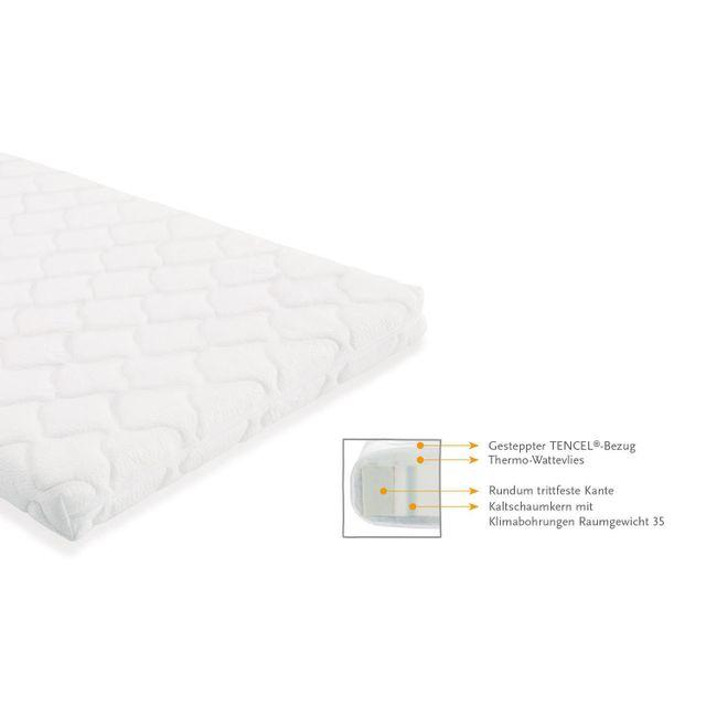 COMFORIUM Matelas élastique 70x140 cm en tissu éponge et mousse froide coloris blanc