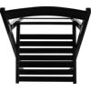 RUE DU COMMERCE Chaise pliante - Noir - Bois wenge Chaise pliante en bois idéale pour recevoir des convives ou pour les espaces restreints.