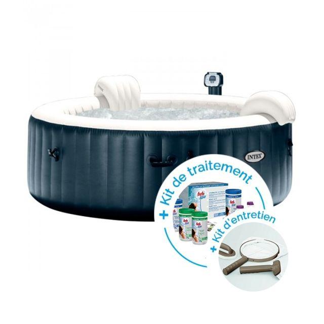 intex spa gonflable purespa plus bulles 4 personnes kit d 39 entretien kit de traitement au. Black Bedroom Furniture Sets. Home Design Ideas