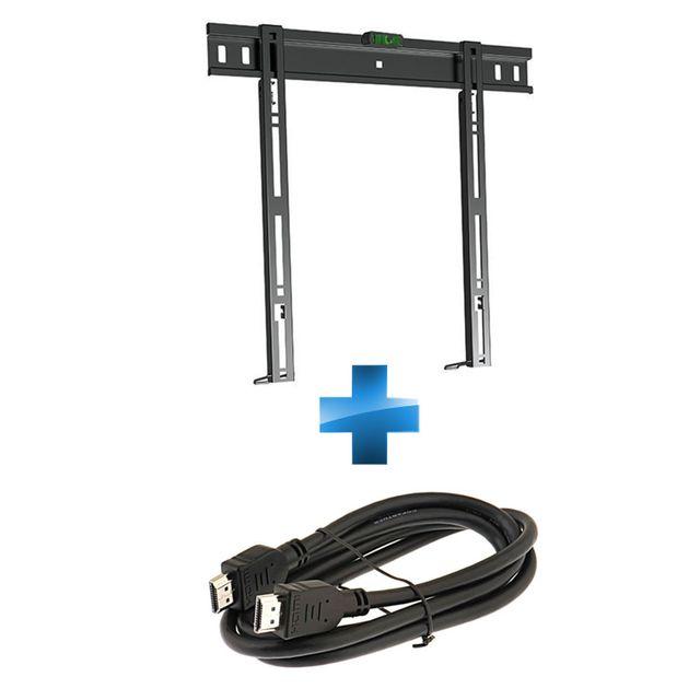 SADIM - Support TV pour écran 26''-55'' + Câble HDMI 1.5m
