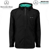 MERCEDES AMG - F1 Veste imperméable professionnelle noir - 141181005-100 - Licence Mercedes - Distributeur approuvé