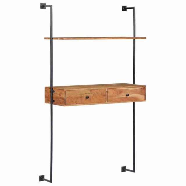 Helloshop26 Étagère armoire meuble design Bureau mural 170 cm bois 2702228/2
