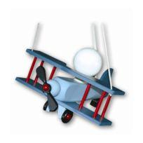 Waldi Leuchten - Suspension Chambre Enfant Avion Aeronef Bleu