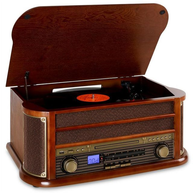 AUNA RM1-Belle Epoque 1908 Retro Stereo CD MP3 USB en bois