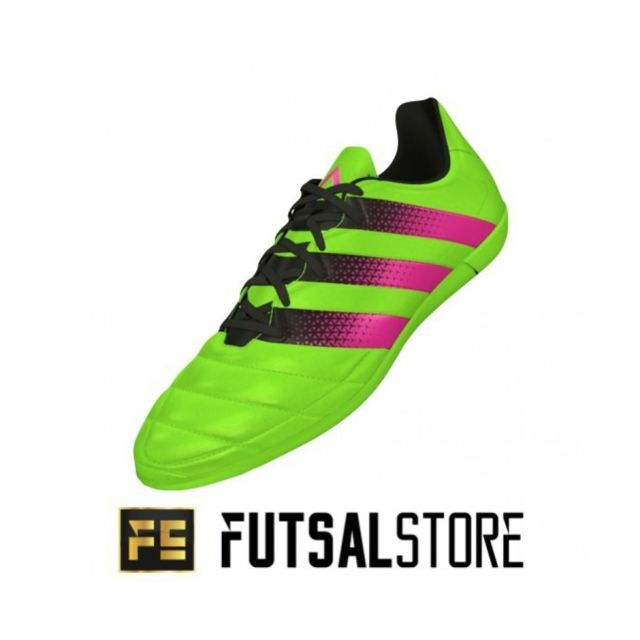 3 Ace Futsal Leather Chaussure 16 De Couleur In Vert Adidas TSgwXq