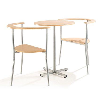 Set Table + 2 chaises Mdf chêne