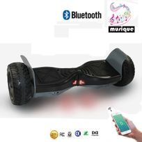 Cool&FUN Hoverboard Bluetooth Tout terrain, gyropode 8.5 pouces modèle Hummer-board Noir