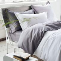 Designers Guild - Taie d'oreiller Satin de coton Saraille Zinc - 50 x 75 cm