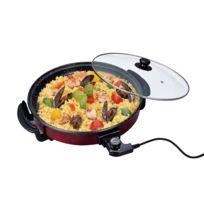 Pritech - Poêle électrique Couvercle façon Pierre 40 cm 1500 W Pizza Tarte  plancha Paella 5dfeb8f12647