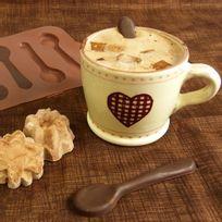 Totalcadeau - Moule en silicone chocolat petites cuillères