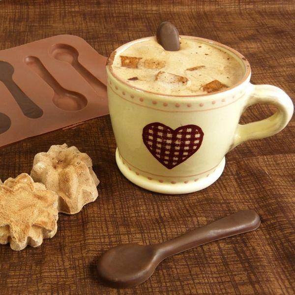 Totalcadeau Moule en silicone chocolat petites cuillères