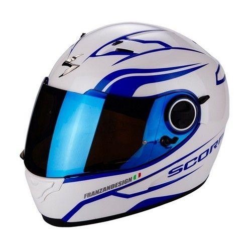 Scorpion - Casque Exo 490 Luz Blanc Bleu