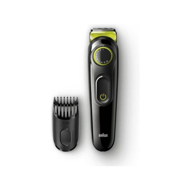 BRAUN Tondeuse à barbe et cheveux - BT3021 - Noir/Gris