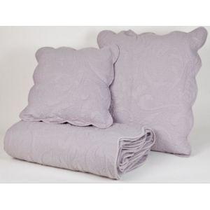 harmony taie d 39 oreiller voluta 45x45 souris gris 65cm x 65cm pas cher achat vente taies. Black Bedroom Furniture Sets. Home Design Ideas