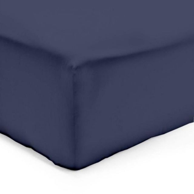 Linge Usine - Drap Housse 140 x 190 cm Bleu