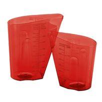 Koziol - Verre doseur gradué rouge dosis set de 2