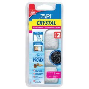 Rena Api - Filtration en Dose Crystal de Taille 2 pour Aquarium - x3