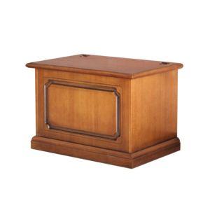 artigiani veneti riuniti coffre pour stockage de pellets merisier 48cm x 75cm pas cher. Black Bedroom Furniture Sets. Home Design Ideas