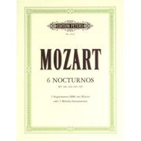 Edition Peters - Partitions Classique Mozart Wolfgang Amadeus - 6 Nocturnes - Mixed Ensemble Ensemble Mixte