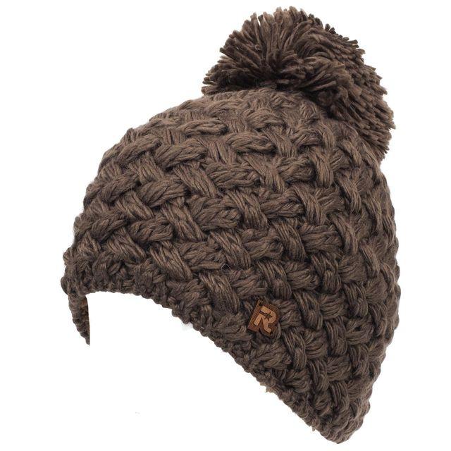 Herman - Bonnet à pompon Basic taupe bonnet Marron 26482 - pas cher ... 04315243e32